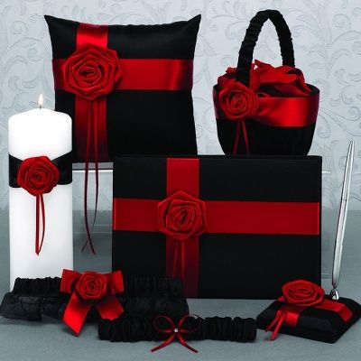 Midnight Rose Ceremony Collection  I WANT this for my wedding!! It matches perfect!!