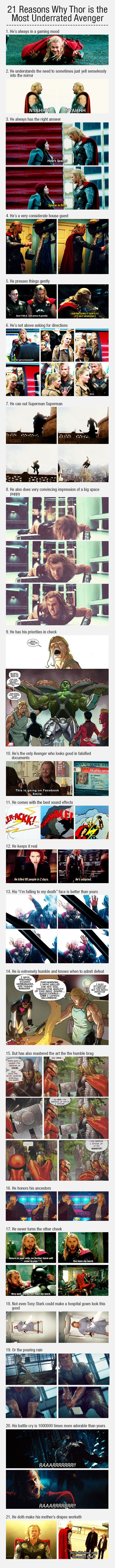 21 Reasons Why Thor is the Most Underrated Avenger