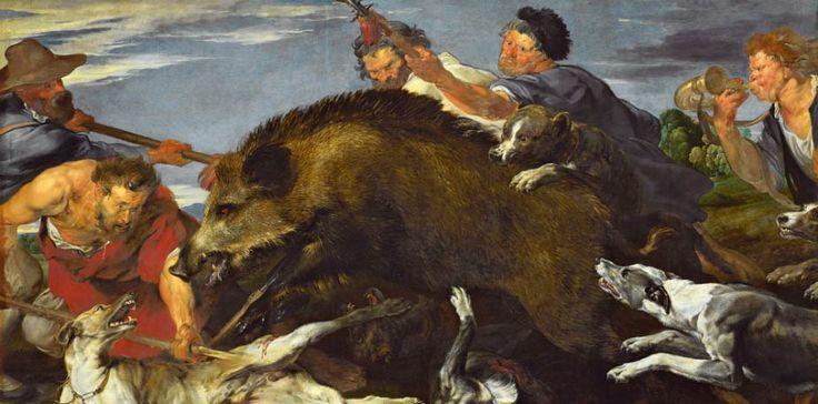 Van Dyck. Caza del jabalí.