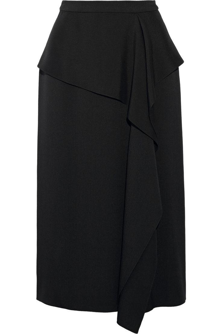 Jason Wu|Draped hammered-silk skirt|NET-A-PORTER.COM