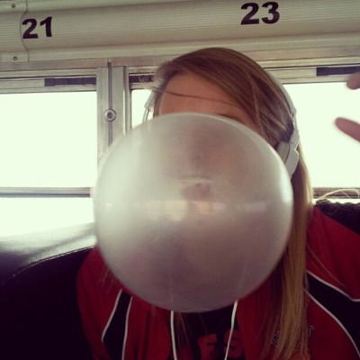 big bubble gum bubbles and sticky bubblegum faces