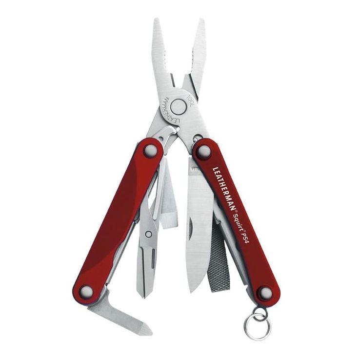 Litet smidigt multiverktyg som du kan ha i nyckelknippan. Trots sin lilla storlek rymmer det förvånansvärt många och nyttiga verktyg. Längden på Squirt PS4 är endast 5,72 cm ihopfälld, och då rymmer det multitång, sax, kniv plus lite tilltugg.