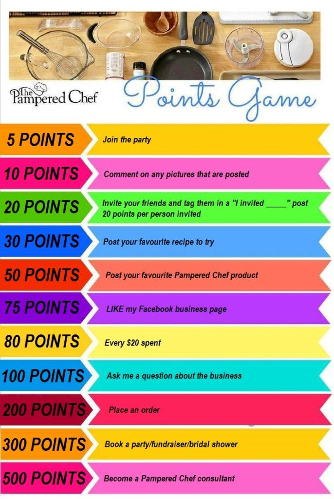 pampered chef facebook party games - Google Search
