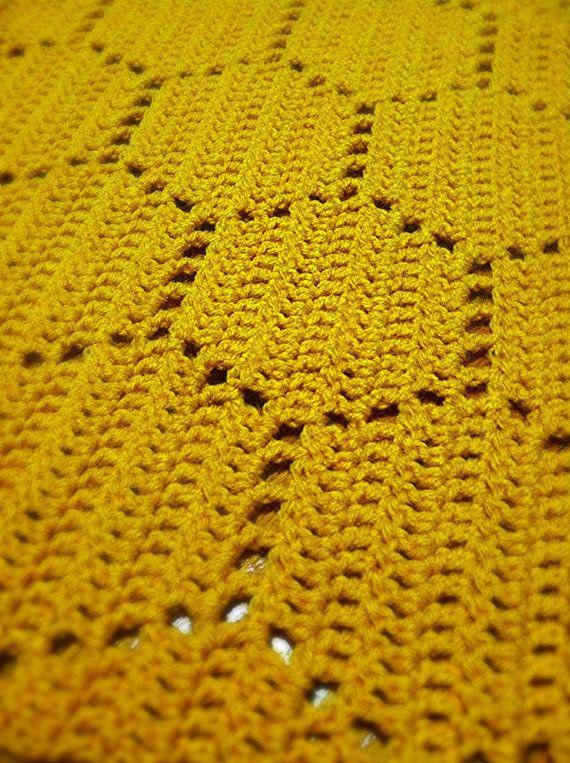 Crochet Blanket Pattern Honeycomb by mangomum on Etsy