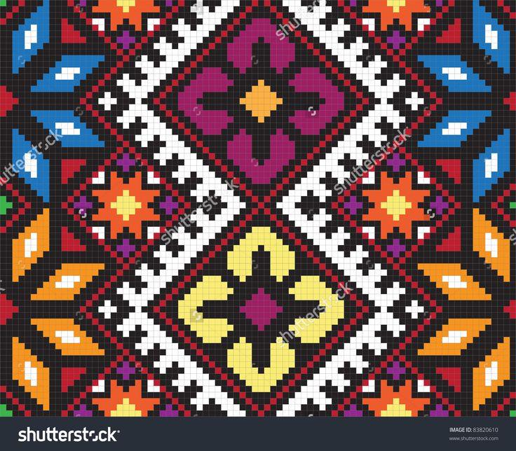 Ukrainian Ethnic Seamless Ornament, #58, Vector - 83820610 : Shutterstock