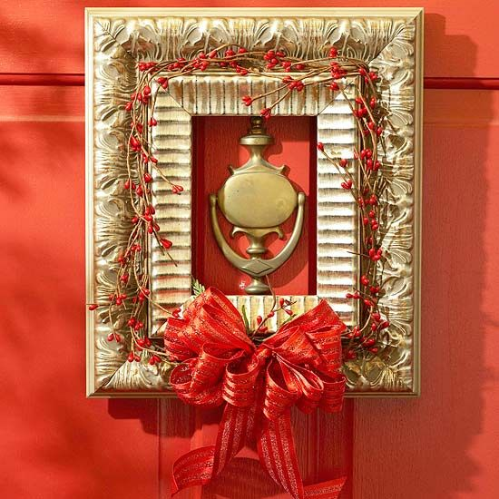 Holiday wreaths in a non-traditional way!