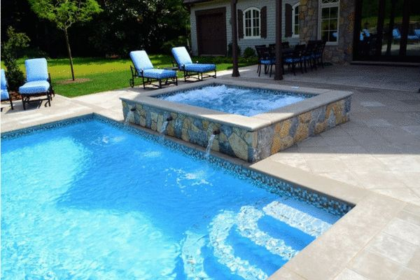 Pool paving in Perth using brick pavers is a cheap alternative as they are smaller than other pool pavers. You can also use them to feature border around the pool. #poolpaving #pavingservice