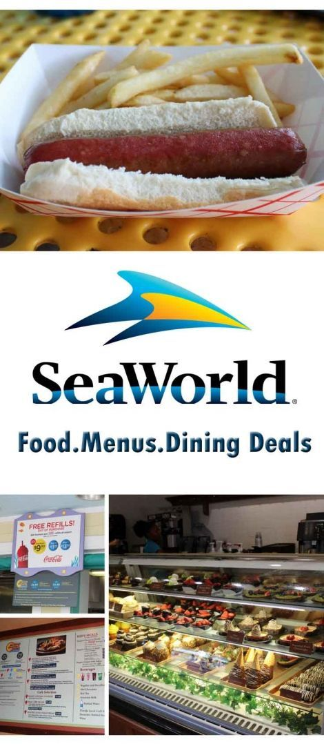 What to eat at SeaWorld, Orlando Florida in the USA.  Menus, Dining Deals and Food Photos - tips and hacks to plan before you visit.