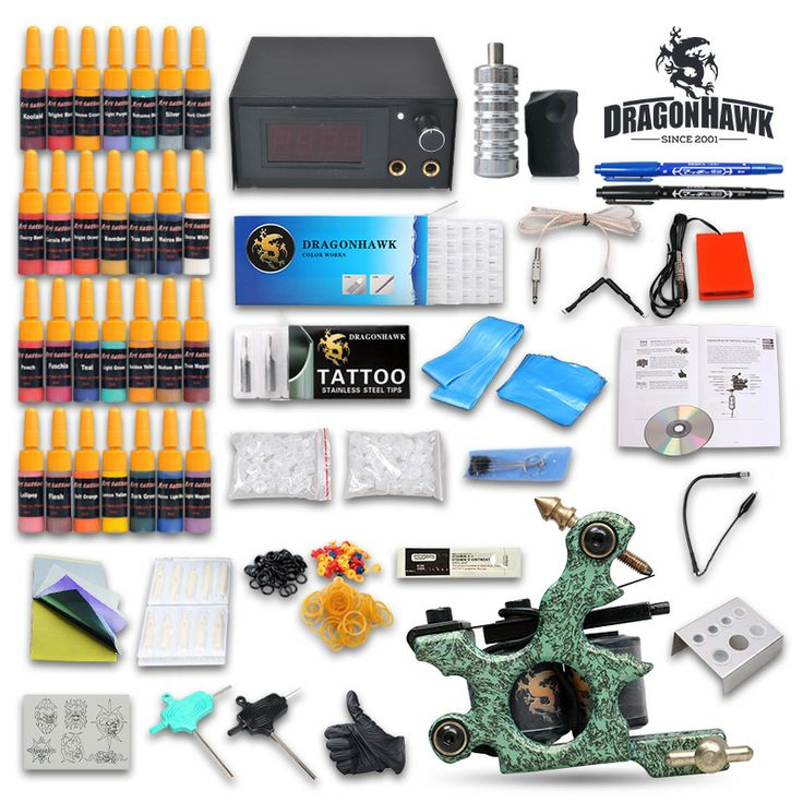 Best 25 tattoo machines for sale ideas on pinterest embroidery tattoo starter kit 1 guns power supply inks needles diy t 005 solutioingenieria Gallery