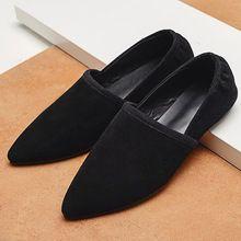 Kadın Süet Deri Slip-on Bale Flats Marka Tasarımcısı Kadınlar için Sivri Toe Balerinler Ayakkabı Sınırlanmıştır Eğlence Espadrilles(China (Mainland))