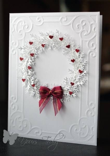 White Wreath made with the Martha Stewart Branch punch. Very elegant card. is artistic inspiration for us. Get extra photograph about Residence Decor and DIY & Crafts associated with by taking a look at pictures gallery on the backside of this web page. We're need to say thanks for those …