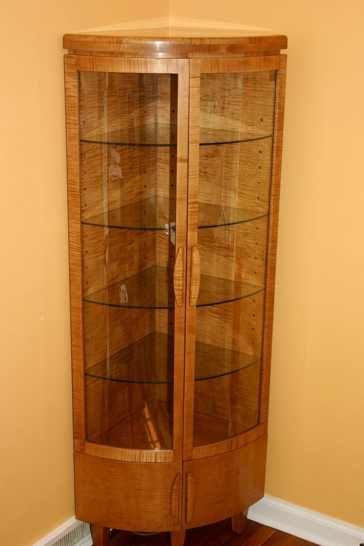 Corner Curio Cabinet Custom Made And Gorgeous