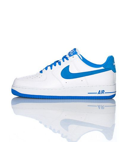 nike air force one navy blue white