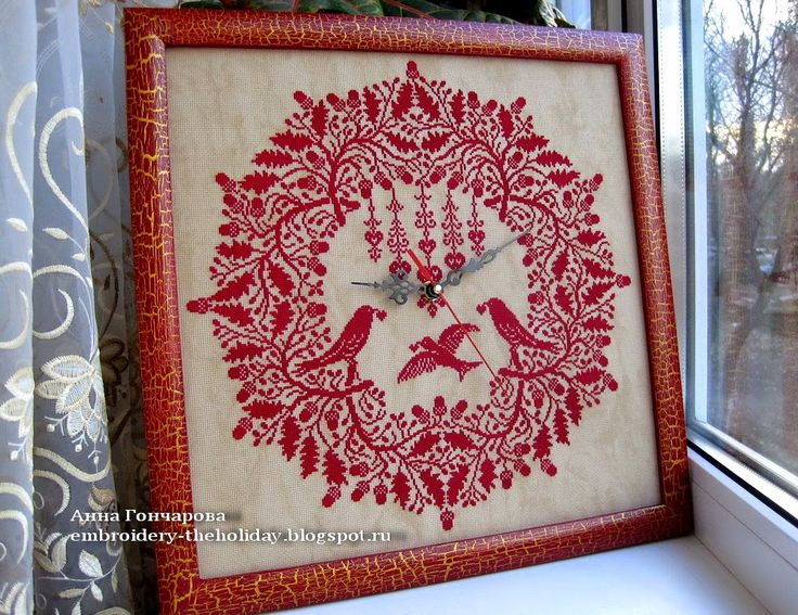 Embroidery ... The holiday, which is always with me...: Часы с вышивкой «Volo di pace» / Renato Parolin «Volo di pace» (Полет мира)
