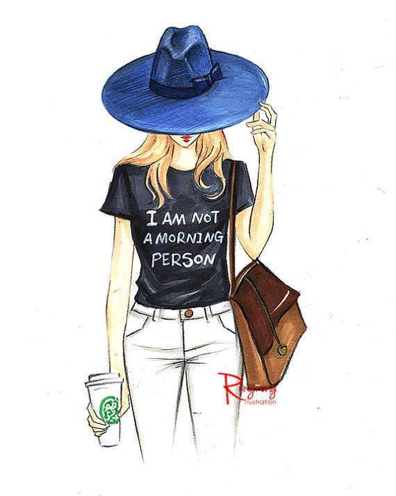 Ilustración de moda arte moda bosquejo de por RongrongIllustration