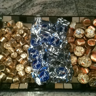 Olympic party with minute-to-win-it games with these awards: gold, silver & bronze medals