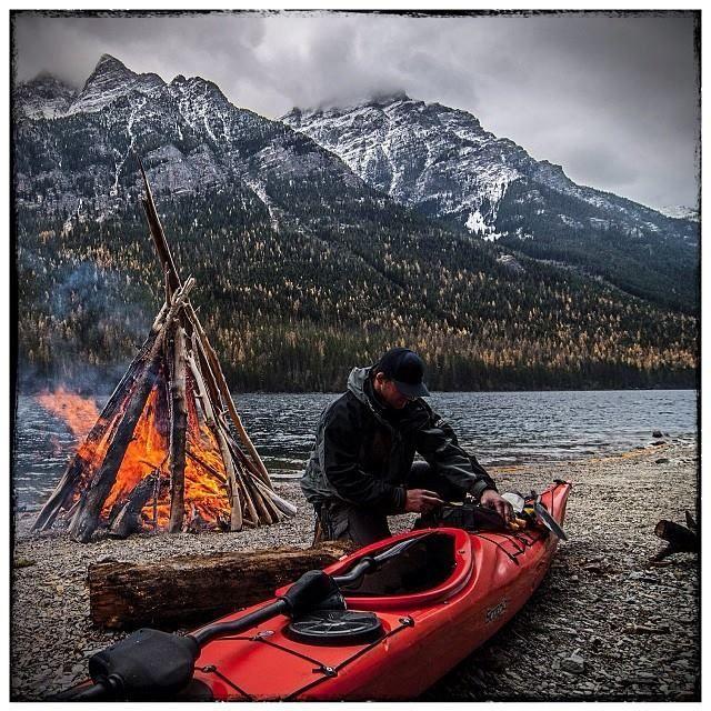 kayak camping -The perfect life. #kayak #kayaking #kayaker
