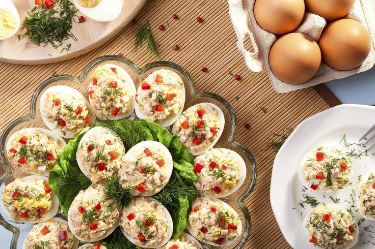 Jajka faszerowane z szynką PROSTY PRZEPIS