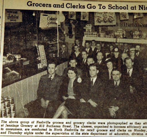 Grocers and clerks go to school at night, from the Nashville Times, 1940 :: Nashville Public Library Digital Collection