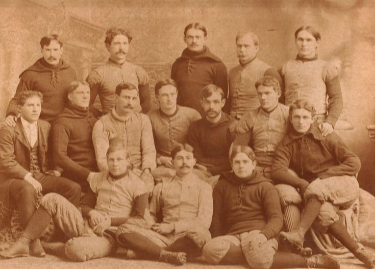 1894 Univ of Chicago football team coached by Alonzo Stagg (middle row far left)