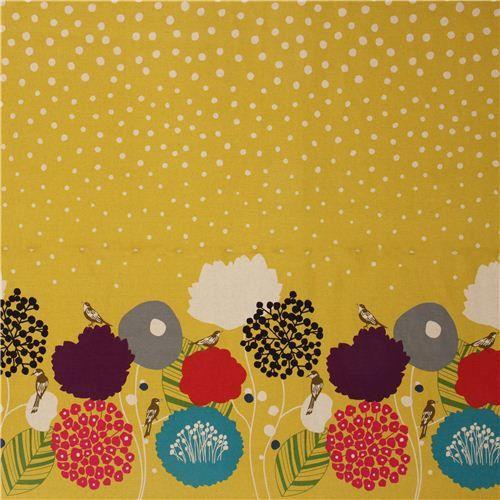 Echino Fabric by Etsuko Furuya cherry  Wild Flower by shimgraphica, $9.50