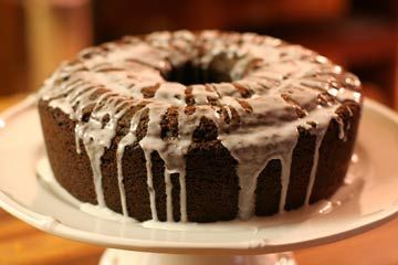 Chocolate Zucchini Cake-I made this and thought it was awesome. I did make a few changes, I put in twice as much orange zest and I put in 1/2 cup less sugar. Delish!!! If you don't want to make the glaze you could just sprinkle powder sugar on it after it cools. (: