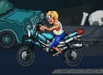 Lo zombie è affamato ed è in cerca di cibo! Gira per la città con la sua nuova moto e ha bisogno di una spinta per raggiungere l'altra parte della città. Utilizza le frecce direzionali!
