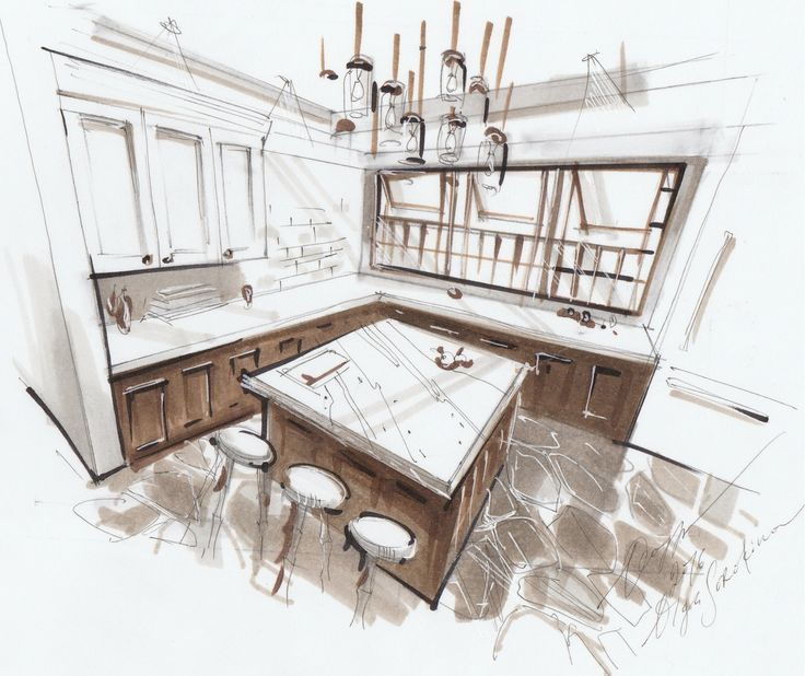 1189 Best Images About INTERIOR PERSPECTIVE DRAWINGS On