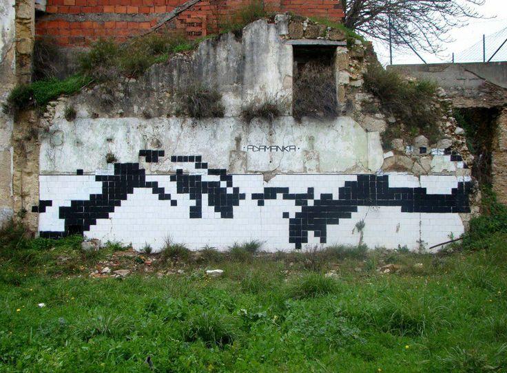 version pixel streetart parodies de la cr ation d 39 adam de la chapelle sixtine pinterest. Black Bedroom Furniture Sets. Home Design Ideas