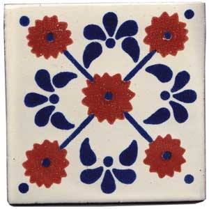 Mexican Tile.  Another one of the patterns of tiles that A Hays Town would use in bars and kitchen stove backsplashes.  Used this often in pool houses