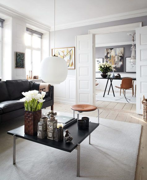 The gorgeous danish home of Uffe Buchard, owner of DANSK fashion magazine and Style Counsel.