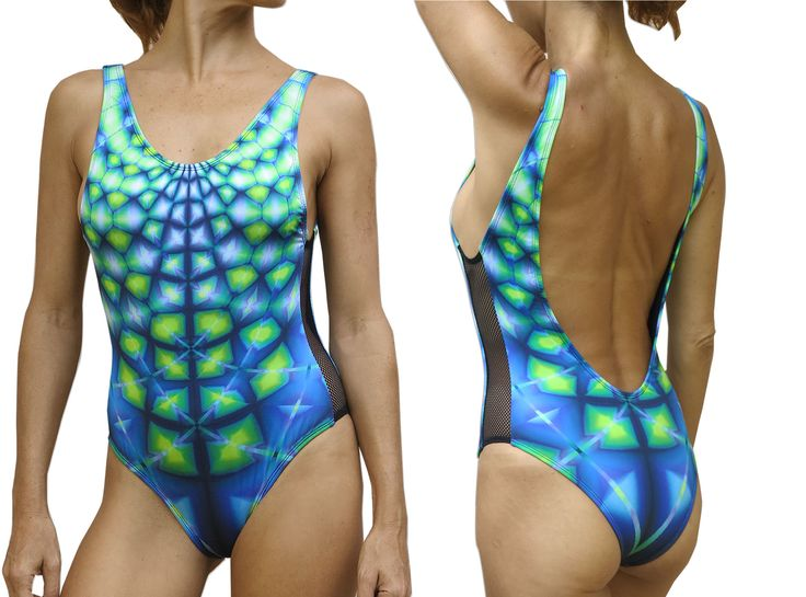 Mesh Swimsuit : Aquatic Web This ridiculously sexy high cut one-piece Swimsuit/Bodysuit is must have for any summer wardrobe! Rock it from the beach to the clubs and back again ,but most of all..... Rock it with style! Cut to perfection, It has mesh sides, super low back and cheeky cut to accentuate the best parts of you.