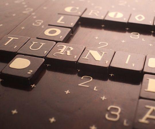 Scrabble typography edition.