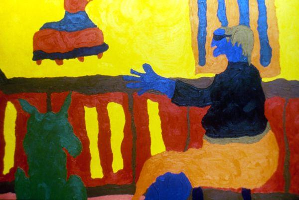 Ud. Siempre Como una Princesa by Cristina Rodriguez, 1986. Oil on linen, 60 x 90 cm.  Private collection. Bogota, Colombia. #painting #oilpainting #finearts #contemporaryart #cristinarodriguez
