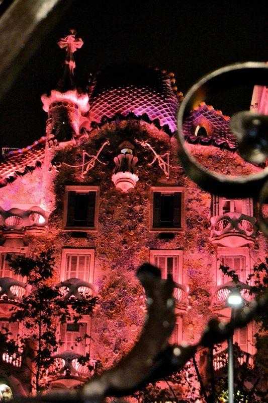 Barcelona Gaudi by night
