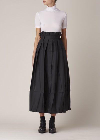 Issey Miyake Origami Skirt (Black Luster)