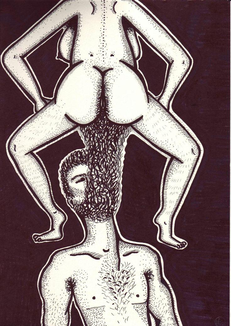 Beardy man by Mad.Madlene Art
