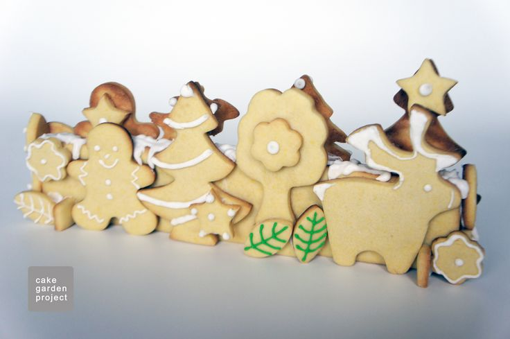 Landscape cookies for Christmas