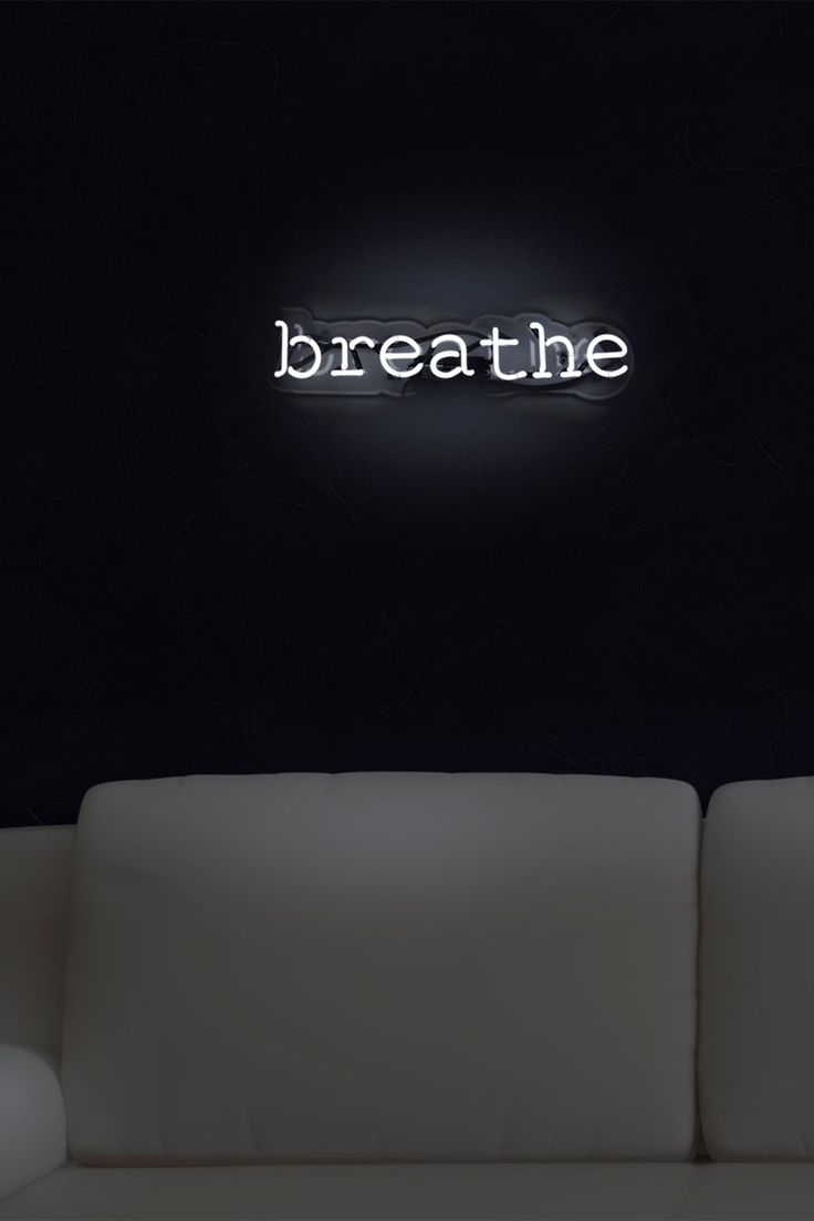 "Obsessed with this Oliver Gal ""Breathe"" LED Neon Sign on #HauteLook now!"