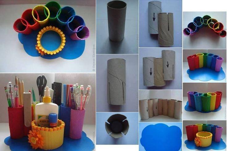 Porta canetas com rolo de papel higi nico ideias para for Accesorio para papel higienico