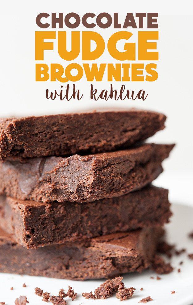 How To Make Chocolate Fudge Brownies With Kahlua