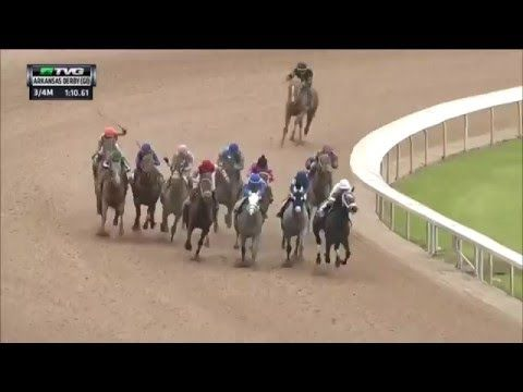 Creator was my pick! I love an athlete that comes from behind, on purpose.  RACE REPLAY: 2016 Arkansas Derby Featuring Creator - YouTube