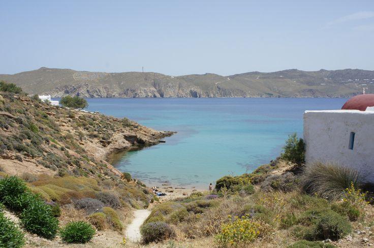 Agios Sostis beach in Mykonos.