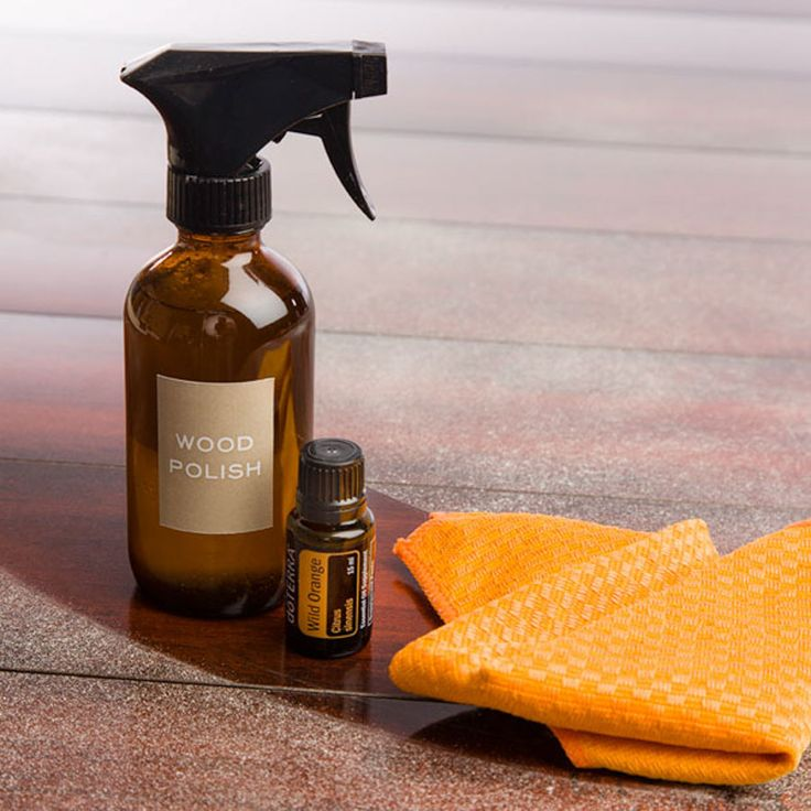 Bring back the shine to your favorite tables, countertops, floors, and more with this Wild Orange essential oil homemade wood polish.