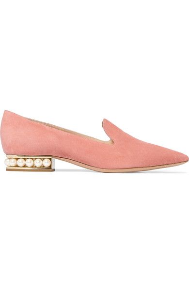 NICHOLAS KIRKWOOD Casati embellished suede loafers. #nicholaskirkwood #shoes #flats