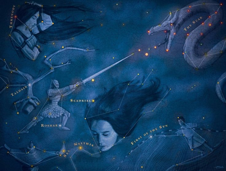 Cosmere Star Chart from Arcanum Unbounded