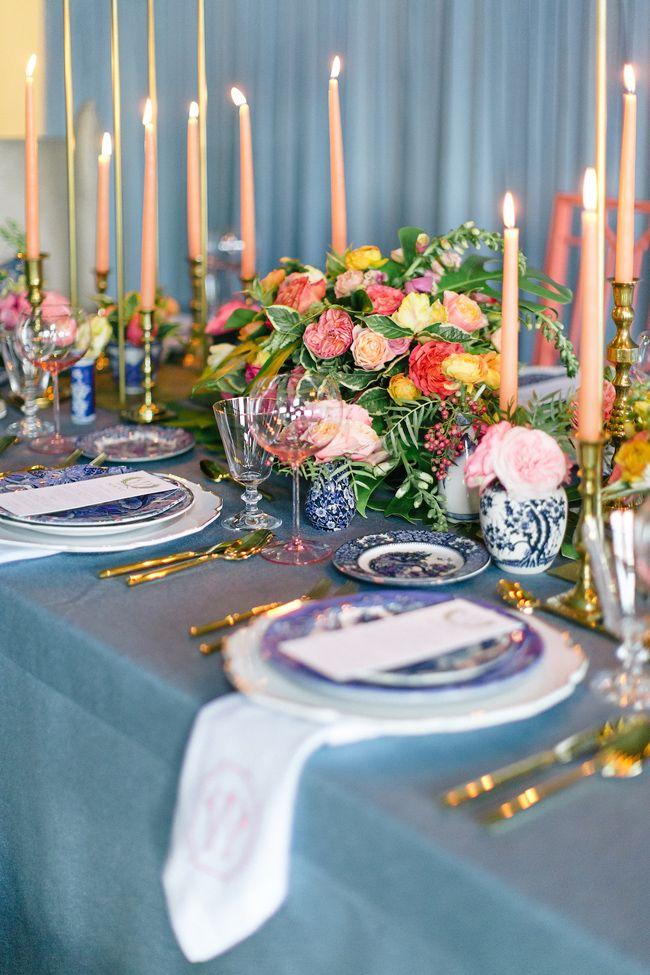 Modern Coral + Blue Palm Beach Wedding Inspiration