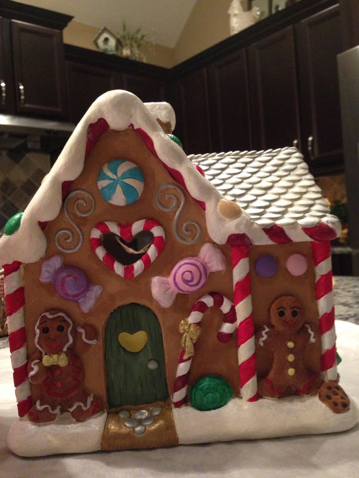 Painted Plaster Gingerbread House My Creations