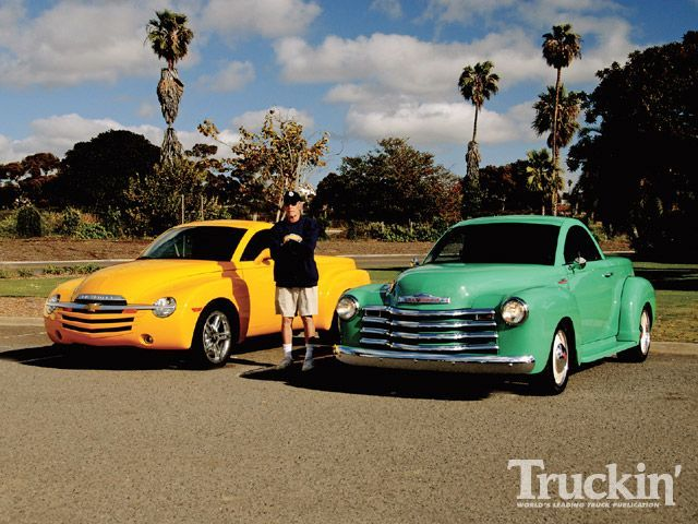Chevy SSR - Part car, part truck, retro and so, so cool.  Insane about this.  After the lottery win...