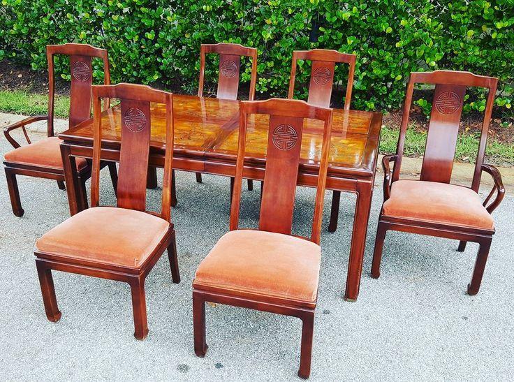 Asian Dining Room Furniture: Stunning Bernhardt Asian Style Dining Room Set #furniture